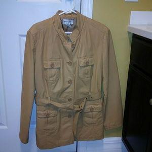 Safari leather jacket. Like new